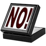 No, Nein, Non, Nyet, Nope Keepsake Box