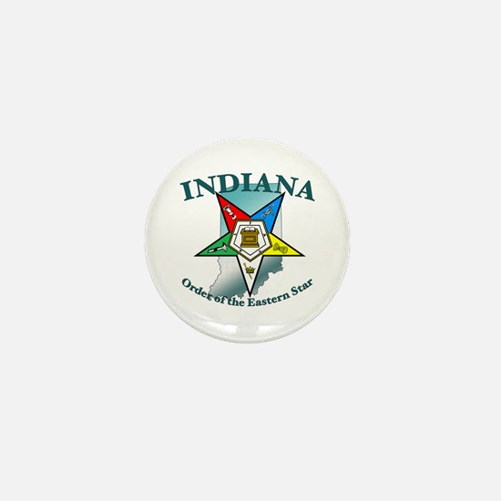 Indiana Eastern Star Mini Button (10 pack)