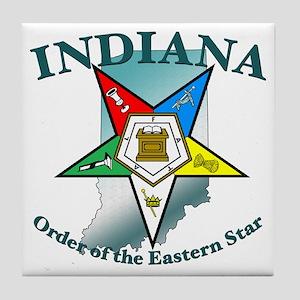 Indiana Eastern Star Tile Coaster