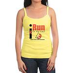 I Run For Breast Cancer Jr. Spaghetti Tank