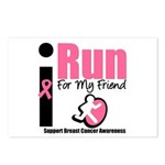 I Run For Breast Cancer Postcards (Package of 8)