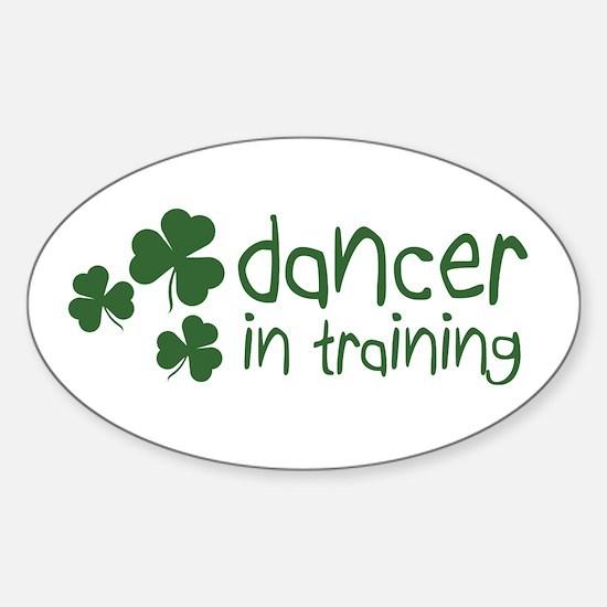 Irish Dancer in Training Oval Decal