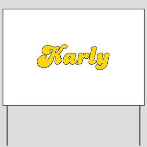 Retro Karly (Gold) Yard Sign
