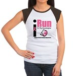 I Run For Breast Cancer Women's Cap Sleeve T-Shirt