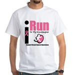 I Run For Breast Cancer White T-Shirt