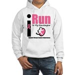 I Run For Breast Cancer Hooded Sweatshirt