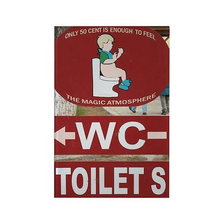 Turkish Toilet Rectangle Magnet