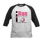 I Run For Breast Cancer Kids Baseball Jersey