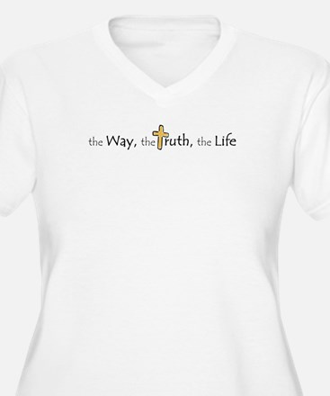 3-Way_truth_life Plus Size T-Shirt
