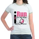 I Run For Breast Cancer Jr. Ringer T-Shirt