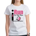 I Run For Breast Cancer Women's T-Shirt