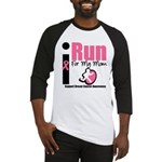 I Run For Breast Cancer Baseball Jersey