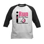 I Run For Breast Cancer Kids Baseball Jersey