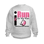 I Run For Breast Cancer Kids Sweatshirt