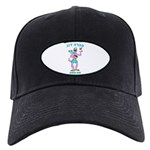 Sabra Dog - Hebrew Logo Black Cap With Patch