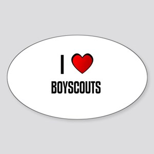I LOVE BOYSCOUTS Oval Sticker