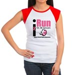 I Run For Breast Cancer Women's Cap Sleeve T-Shirt