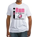 I Run For Breast Cancer Fitted T-Shirt
