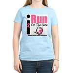 I Run For Breast Cancer Women's Light T-Shirt
