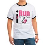 I Run For Breast Cancer Ringer T