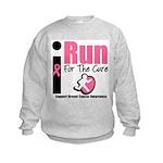 I Run For Breast Cancer Kids Sweatshirt