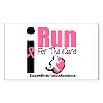 I Run For Breast Cancer Rectangle Sticker 10 pk)