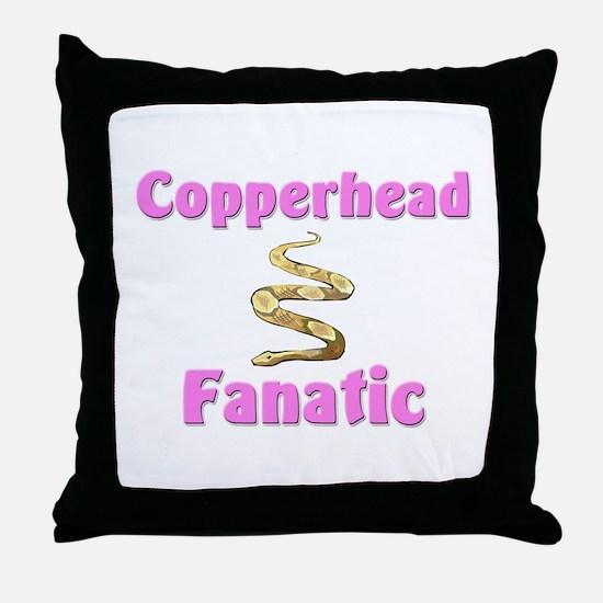 Copperhead Fanatic Throw Pillow