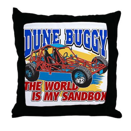 Dune Buggy Sandbox Throw Pillow