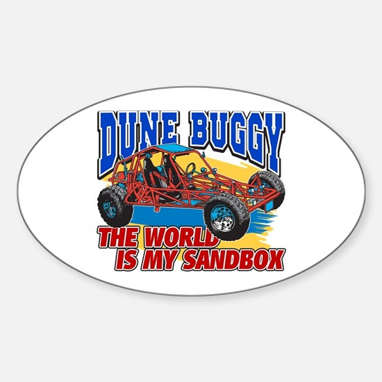 Dune Buggy Sandbox Sticker (Oval)