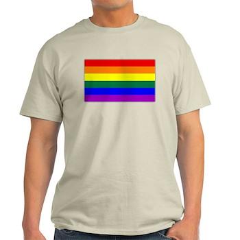 LGBT Rainbow Pride Flag Light T-Shirt