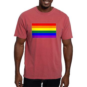 LGBT Rainbow Pride Flag Mens Comfort Colors Shirt