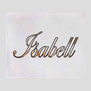 Gold Isabell Throw Blanket