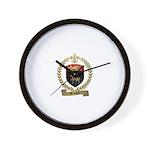 BEAULIEU Family Crest Wall Clock