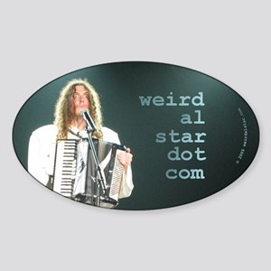 A Man And His Accordion Oval Sticker
