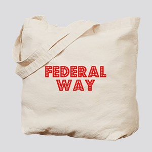 Retro Federal Way (Red) Tote Bag