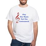 Play The Music White T-Shirt