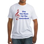 Play The Music Fitted T-Shirt