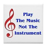 Play The Music Tile Coaster