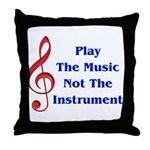 Play The Music Throw Pillow