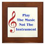 Play The Music Framed Tile