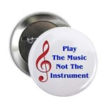 """Play The Music 2.25"""" Button (100 pack)"""