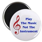 """Play The Music 2.25"""" Magnet (10 pack)"""