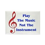 Play The Music Rectangle Magnet