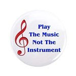 """Play The Music 3.5"""" Button (100 pack)"""