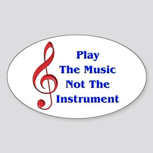 Play The Music Oval Sticker