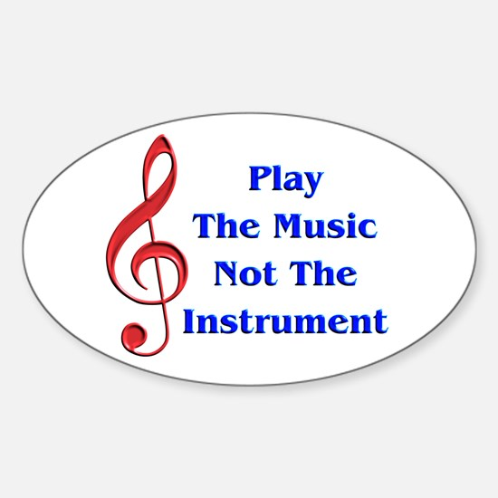 Play The Music Oval Decal