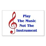 Play The Music Rectangle Sticker 10 pk)