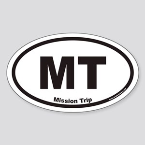 Mission Trip MT Euro Oval Sticker