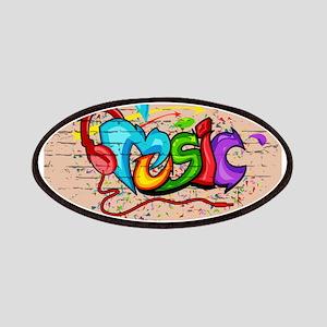 Rainbow Music Graffiti Patch