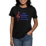 Play The Music Women's Dark T-Shirt